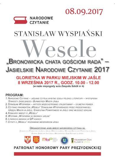 Bronowicka Chata Gościom Rada Jasielskie Narodowe Czytanie 2017